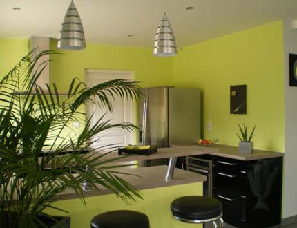 d coration salon vert anis. Black Bedroom Furniture Sets. Home Design Ideas
