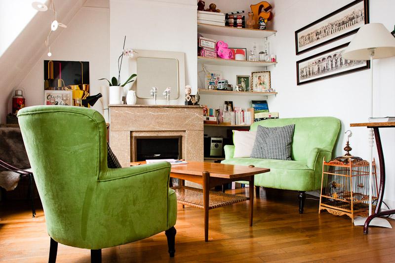 d233coration salon vintage
