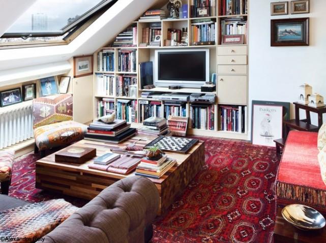 décoration salon voyage