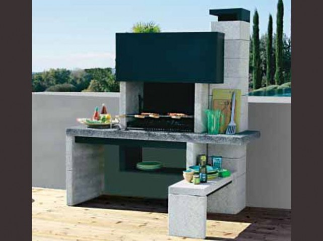 deco barbecue pierre. Black Bedroom Furniture Sets. Home Design Ideas