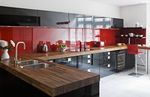 Ide Decoration Cuisine Grise Et Rouge