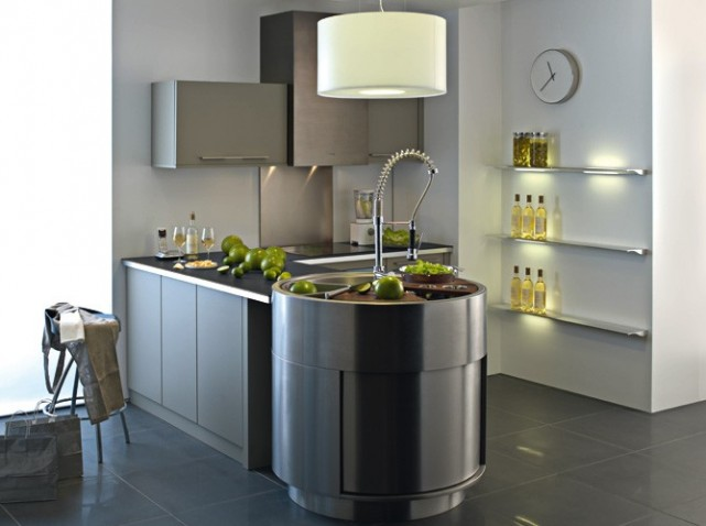 decoration cuisine inox. Black Bedroom Furniture Sets. Home Design Ideas