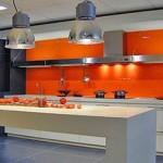 Photo decoration cuisine orange et vert