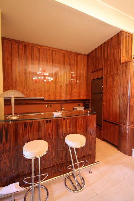 decoration cuisine orange marron. Black Bedroom Furniture Sets. Home Design Ideas