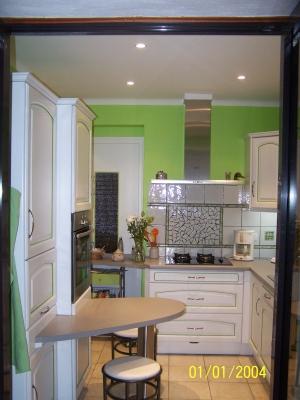 decoration cuisine petite surface. Black Bedroom Furniture Sets. Home Design Ideas