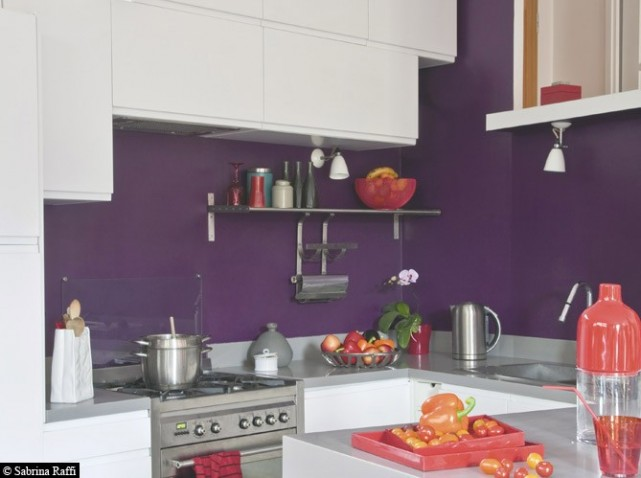 Decoration cuisine violet for Deco cuisine 4 bourgeois