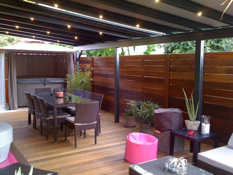 decoration de pergola. Black Bedroom Furniture Sets. Home Design Ideas