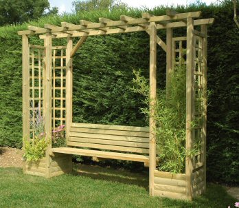Decoration pergola bois for Exemple de pergola en bois