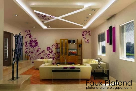 decoration salon faux plafond. Black Bedroom Furniture Sets. Home Design Ideas