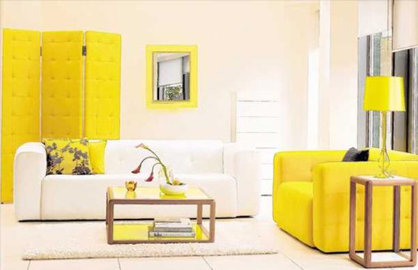 decoration salon jaune. Black Bedroom Furniture Sets. Home Design Ideas