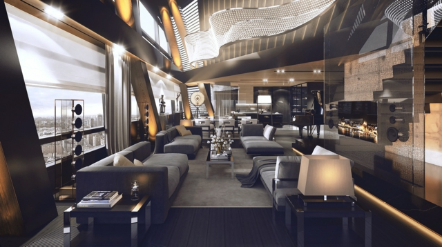 decoration salon luxe. Black Bedroom Furniture Sets. Home Design Ideas