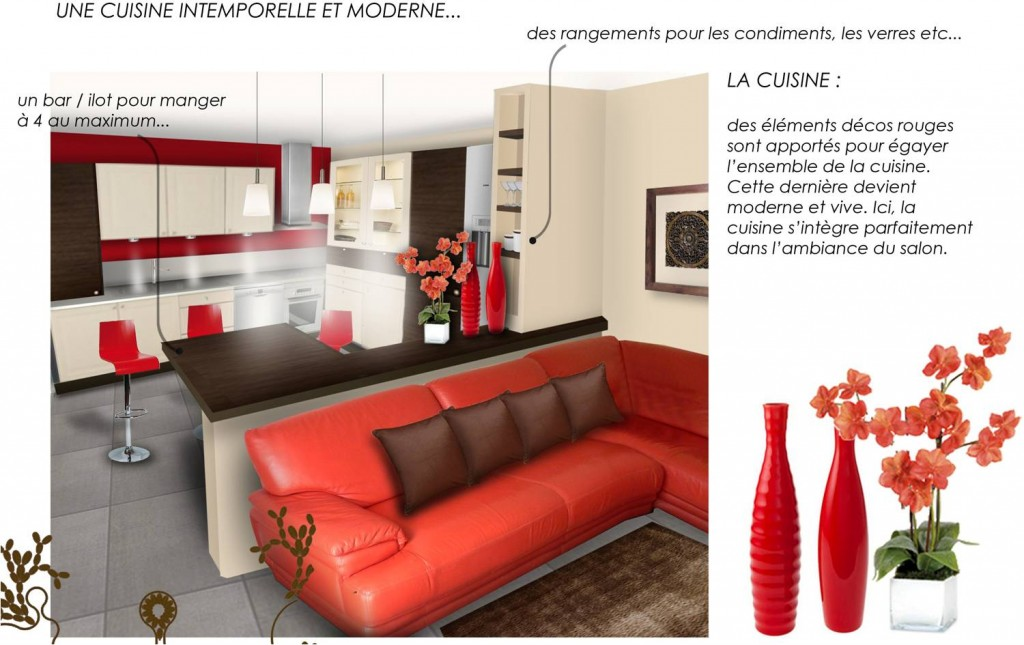 Decoration salon ouvert cuisine for Modele decoration sejour