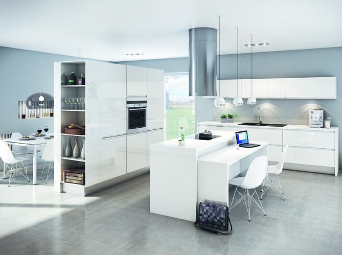 Decoration salon ouvert cuisine - Cuisine et salon ouvert ...