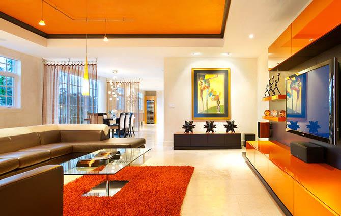 Organisation Decoration Salon Peinture Orange