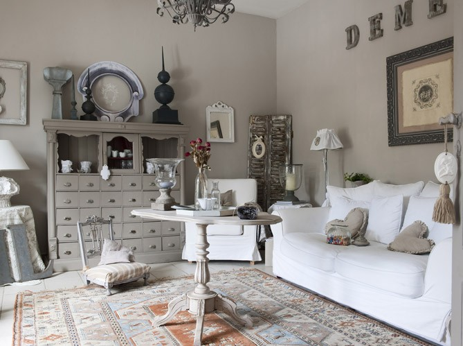 Decoration salon taupe et blanc for Decoration taupe et blanc