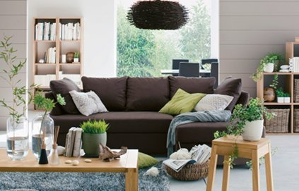 Decoration salon vert et marron - Deco chambre vert et marron ...