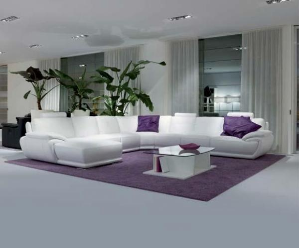 decoration salon violet et gris. Black Bedroom Furniture Sets. Home Design Ideas