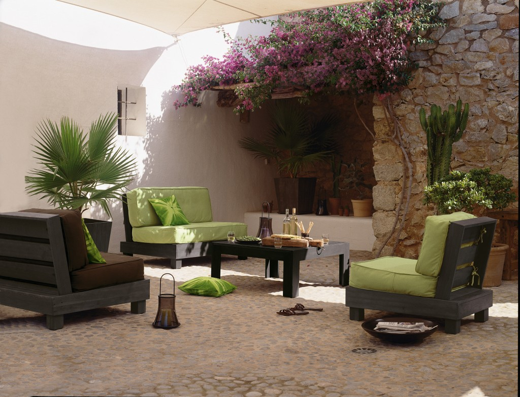 Id e d co salon de jardin for Idee terrasse pas cher