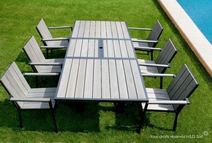 salon de jardin bois pas cher. Black Bedroom Furniture Sets. Home Design Ideas