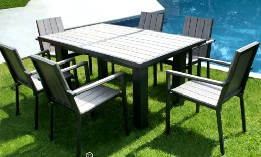 Beautiful Salon De Jardin Alu Bois Composite Contemporary - Amazing ...