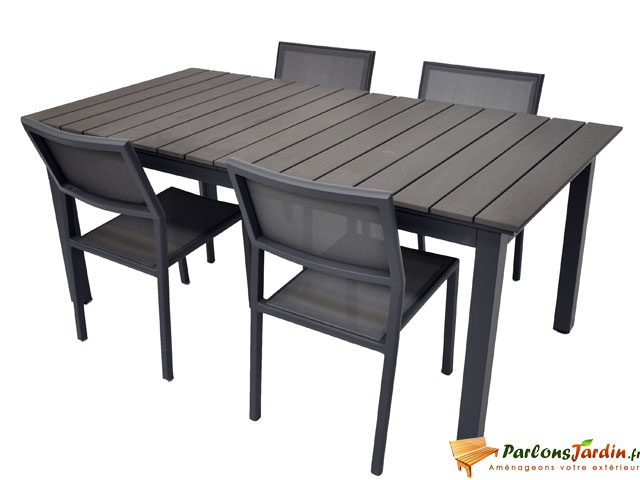 Salon de jardin composite - Table en bois composite ...