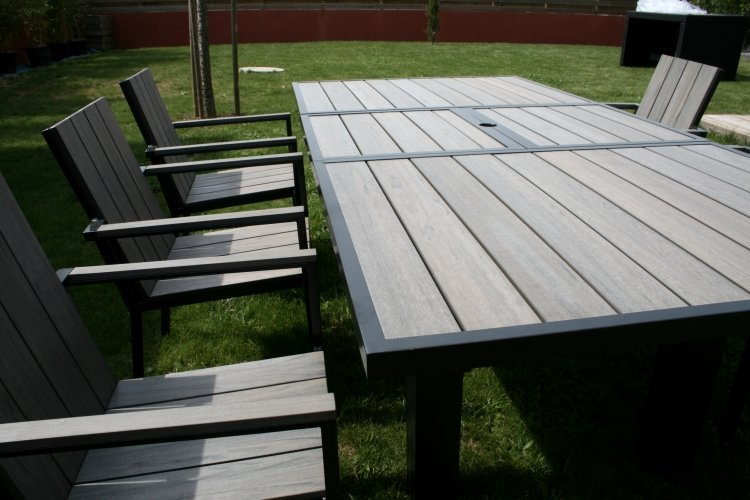 Beautiful Salon De Jardin Alu Imitation Bois Photos - Payn.us ...