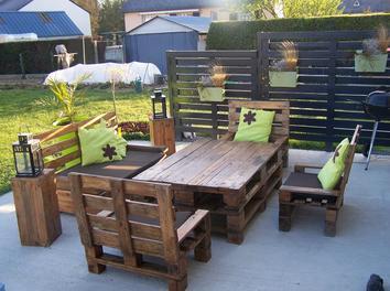 stunning comment fabriquer son salon de jardin avec des palettes - Fabriquer Salon De Jardin Avec Palette