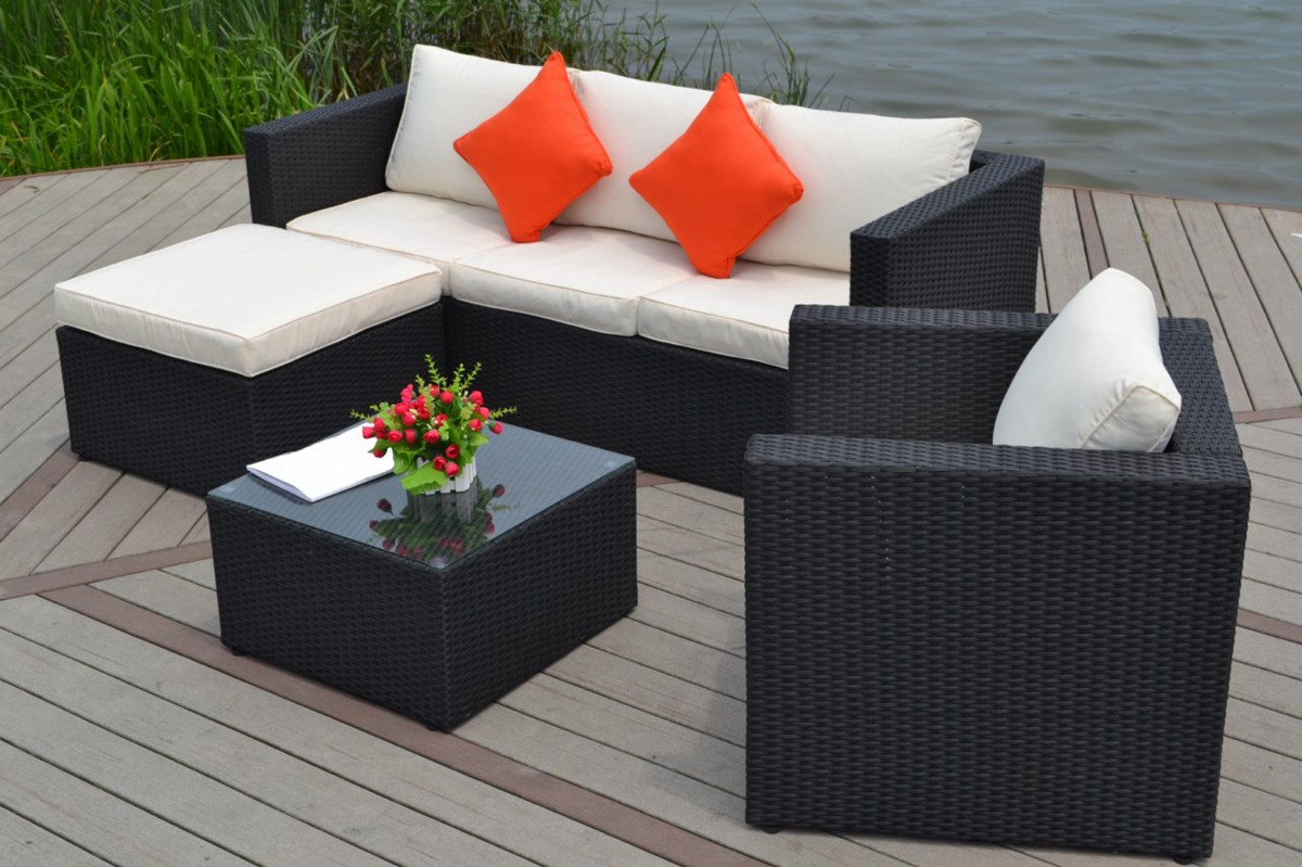 Salon de jardin tresse en solde - Royal Sofa