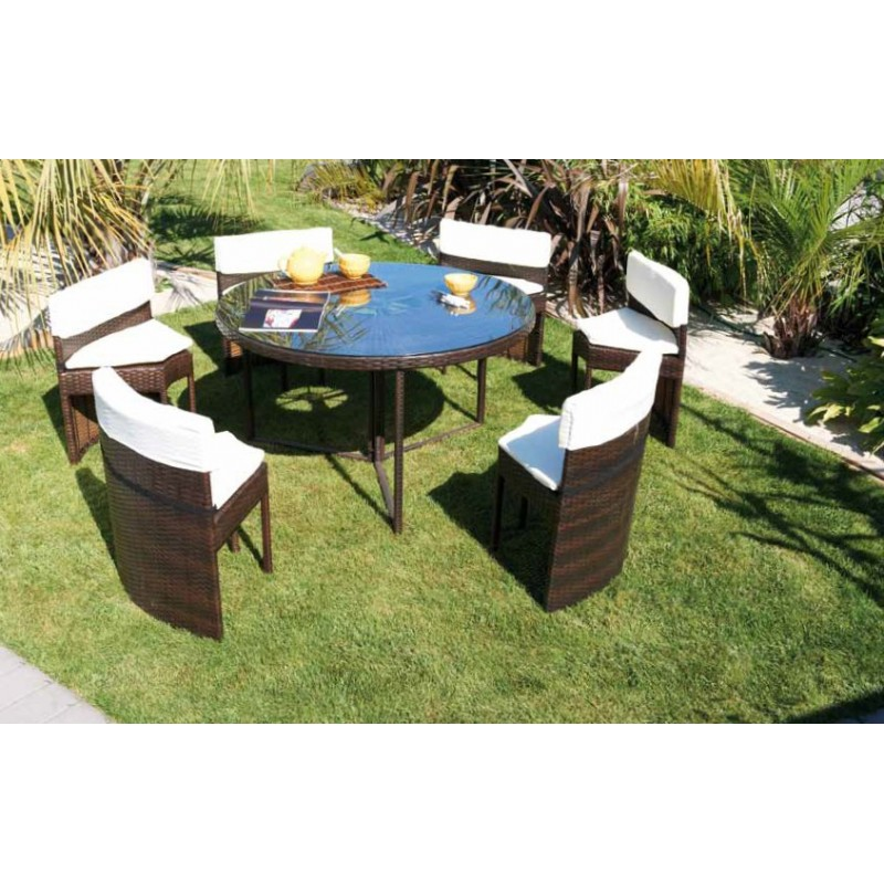 salon de jardin table ronde. Black Bedroom Furniture Sets. Home Design Ideas