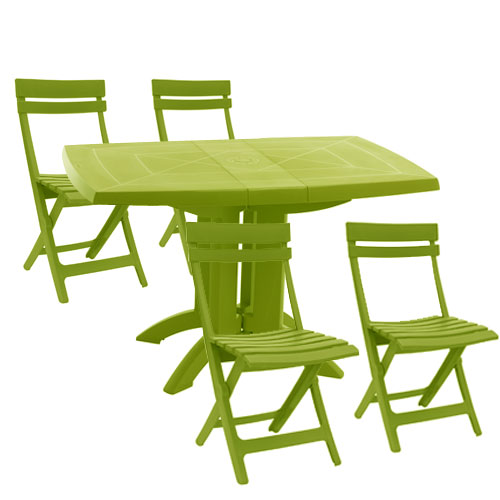 table de jardin vert anis. Black Bedroom Furniture Sets. Home Design Ideas