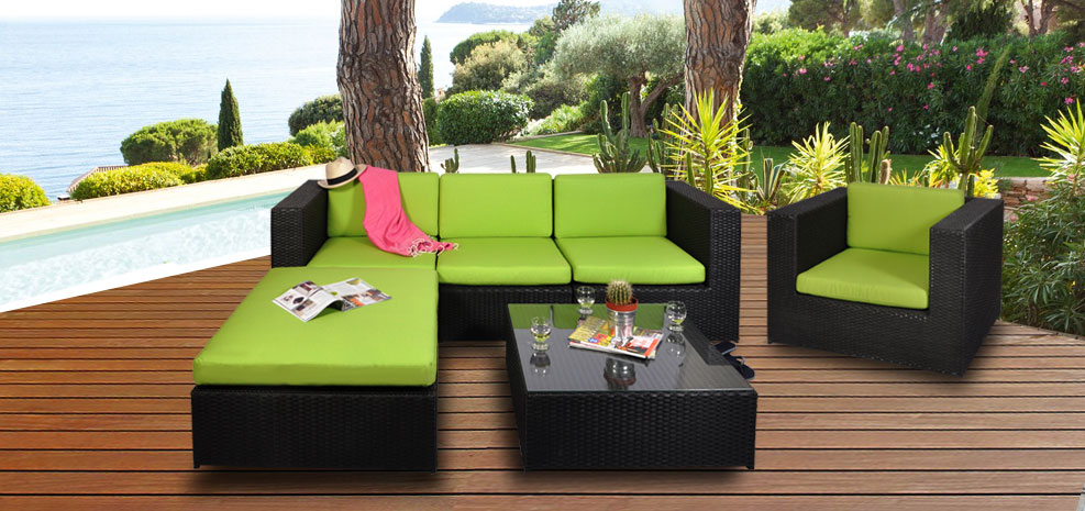 salon de jardin vert anis. Black Bedroom Furniture Sets. Home Design Ideas