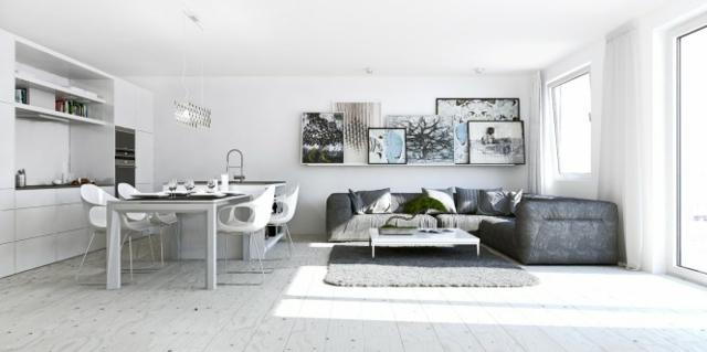 déco appartement gris et blanc