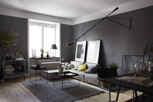 d co appartement gris et blanc. Black Bedroom Furniture Sets. Home Design Ideas