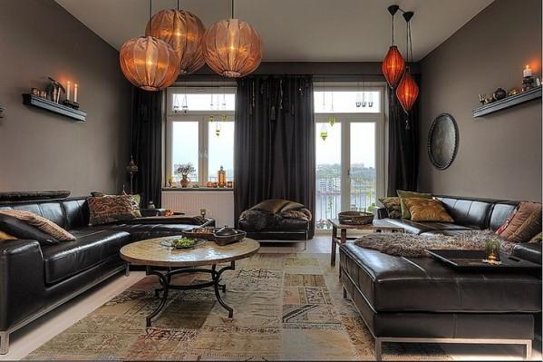 D co appartement chaleureux for Appartement design homme