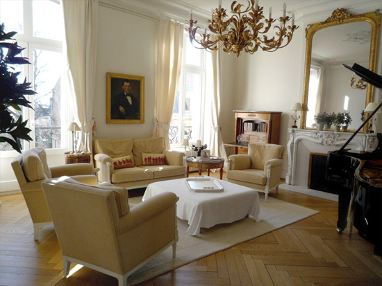 D co appartement haussmannien for Idee deco appartement