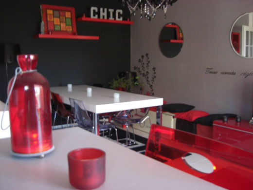 Beautiful Salon Rouge Et Blanc Deco Contemporary  Amazing Design