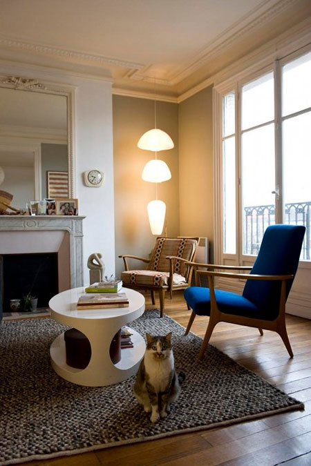 D co appartement parisien for Decoration interieur appartement design