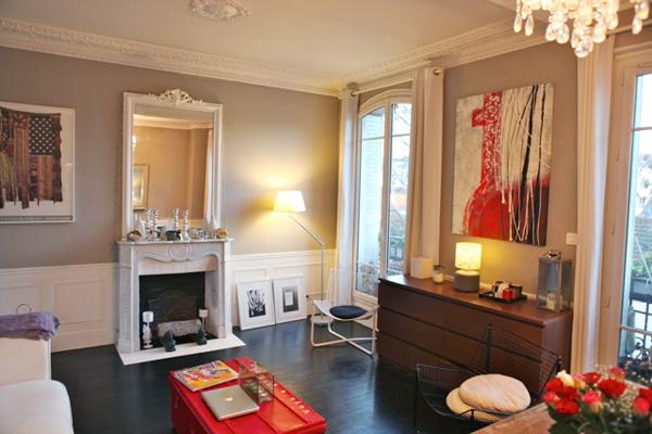 D co appartement parisien for Exemple deco appartement