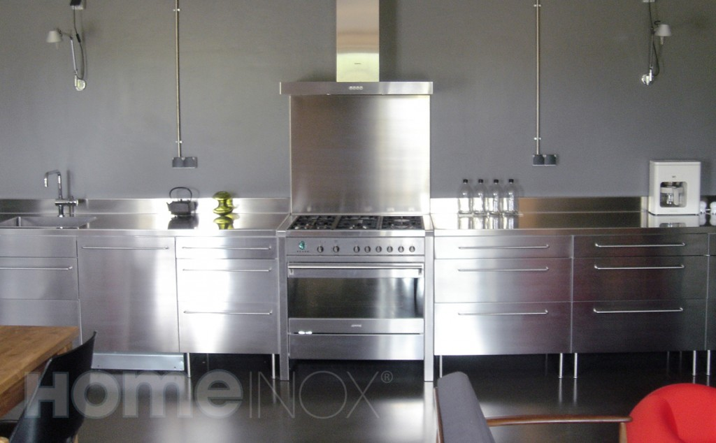 D co cuisine inox for Photo deco cuisine