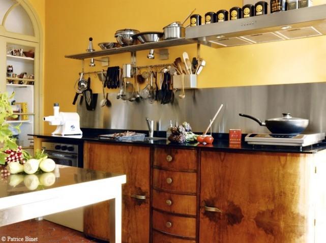 D co cuisine jaune et orange - Maison deco com cuisine ...