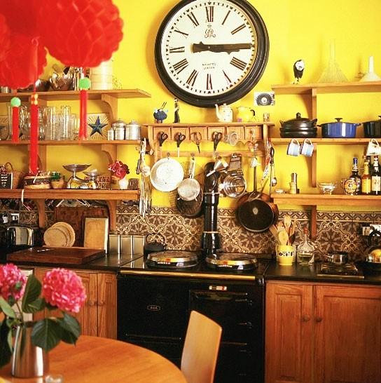 d233co cuisine jaune et orange
