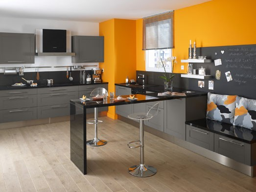 d co cuisine jaune et orange. Black Bedroom Furniture Sets. Home Design Ideas