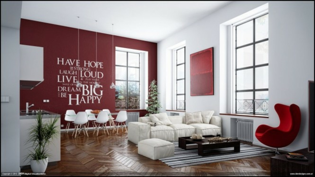 Salon Chic Et Moderne. Trendy Decoration Interieur Style Campagne ...