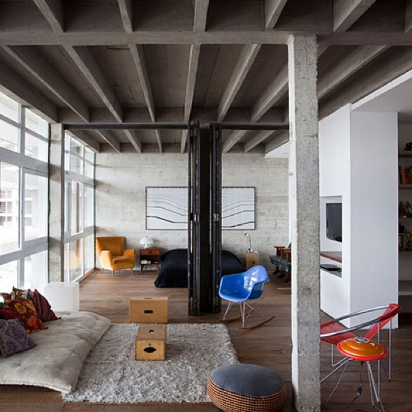Decoration industrielle ambiance loft accueil design et - Decoration loft industriel ...