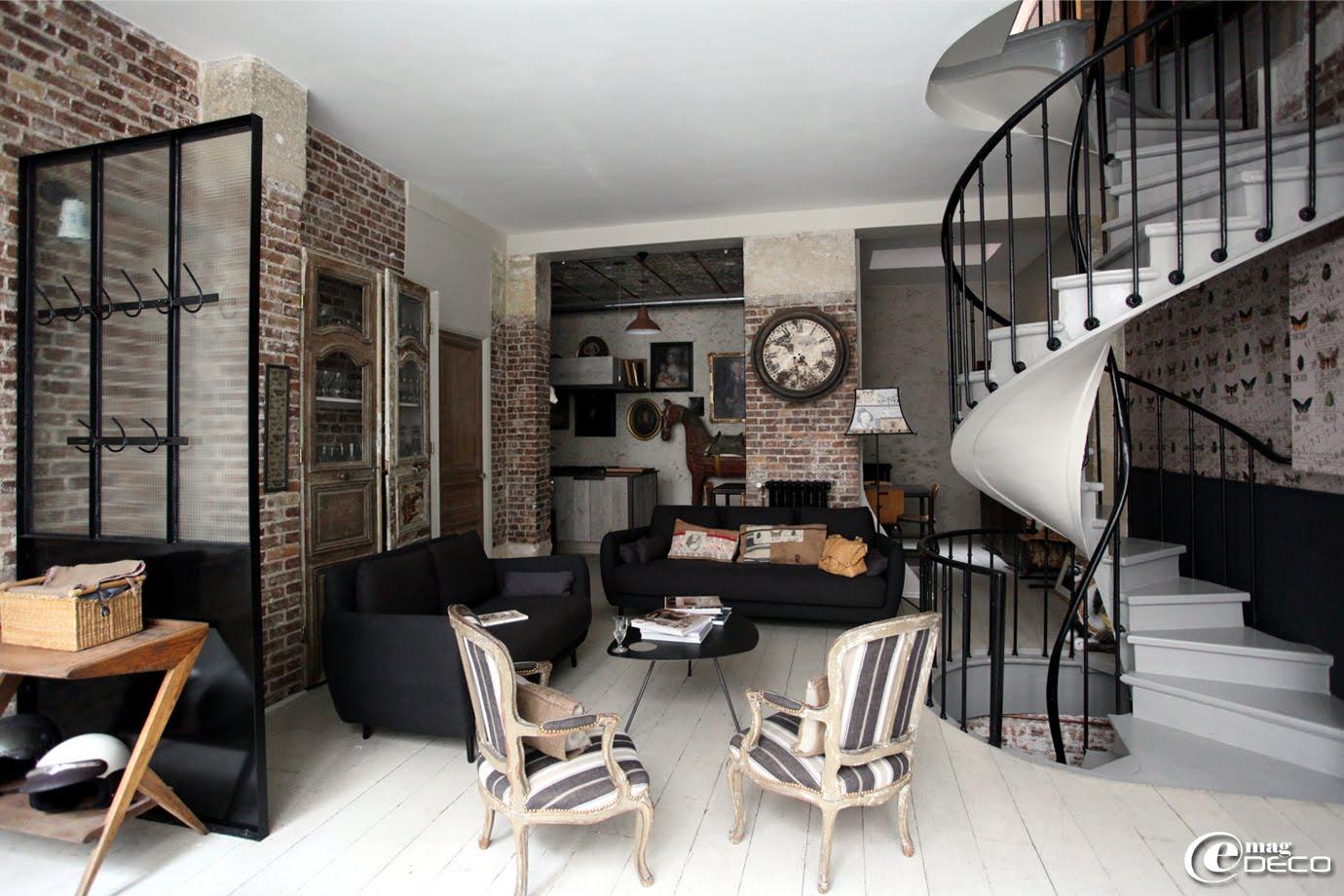 Chambre ado garcon style industriel for Model de decoration interieur