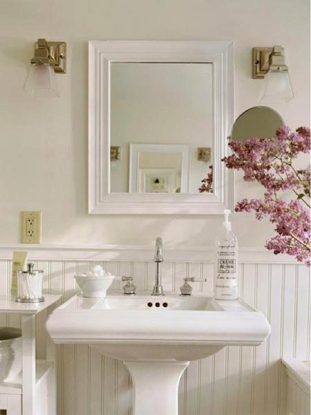 modèle déco salle de bain ancienne