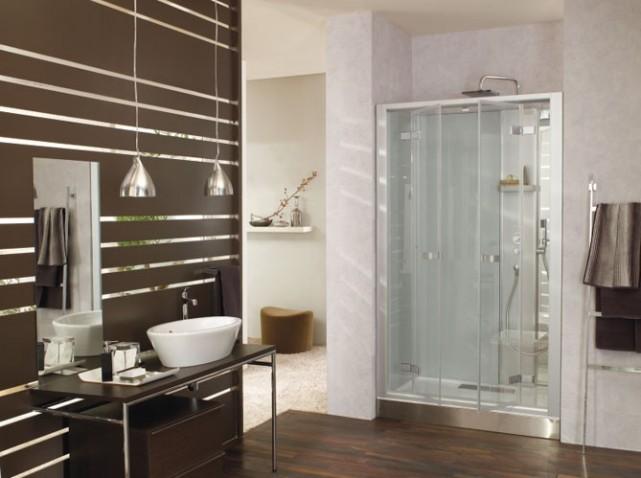 D co salle de bain avec douche for Decoration de douche