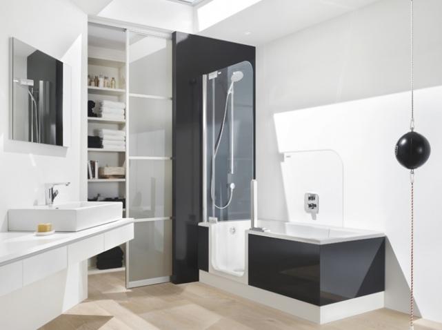 awesome amenagement salle de bain douche et baignoire pictures ... - Amenagement De Salle De Bain Avec Douche