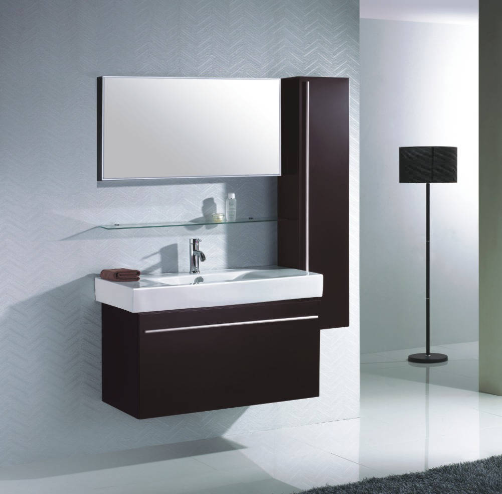 d co salle de bain avec meuble wenge. Black Bedroom Furniture Sets. Home Design Ideas