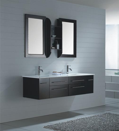D co salle de bain avec meuble wenge for Salle bain tendance 2014